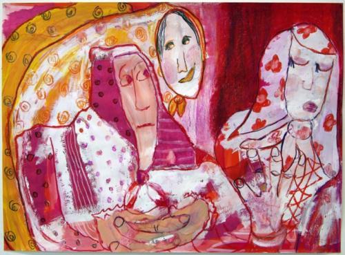 femmes en foulards